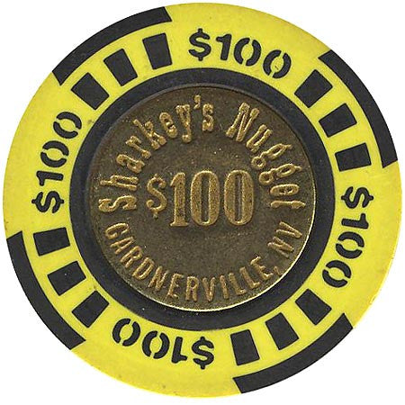 Sharkey's Nugget $100 (yellow) chip