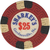 Sharkey's $25 (red) chip - Spinettis Gaming - 1