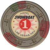 Showboat $1 (gray) chip - Spinettis Gaming - 1