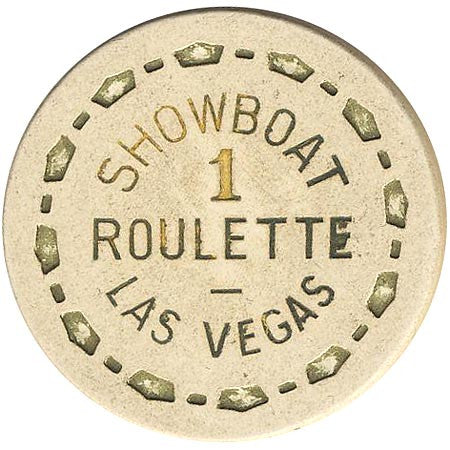Showboat Casino Las Vegas NV 1 Roulette Chip 1970s