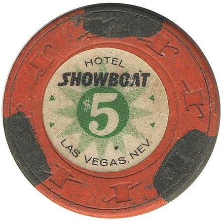 Showboat Casino Las Vegas NV $5 Chip 1962
