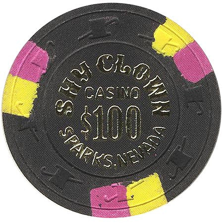 Shy Clown $100 (black) chip - Spinettis Gaming - 1