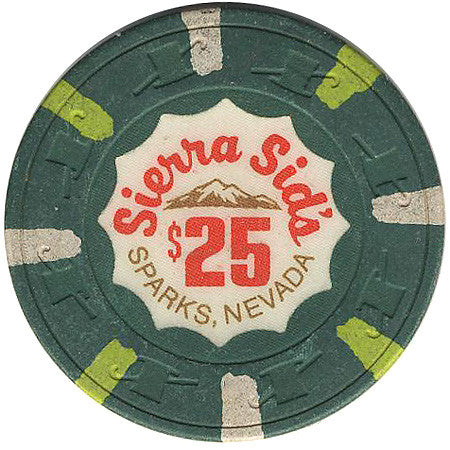 Sierra Sid's $25 (green) chip