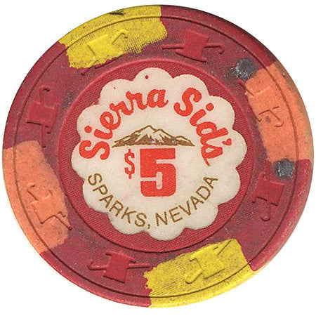 Sierra Sid's $5 (red) chip - Spinettis Gaming - 1