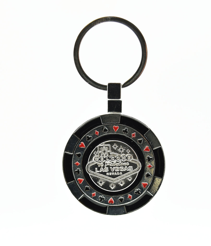 Key Chain - Las Vegas Sign Chip Spinner