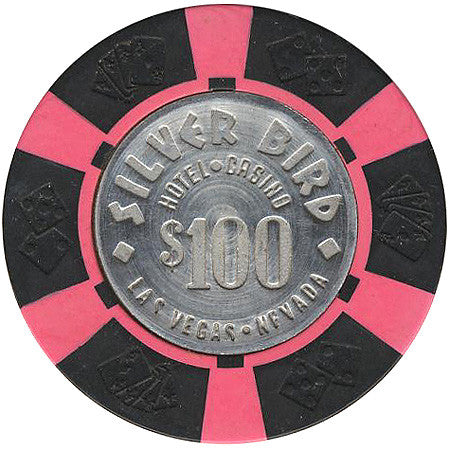 Silver Bird Casino Las Vegas $100 chip 1976