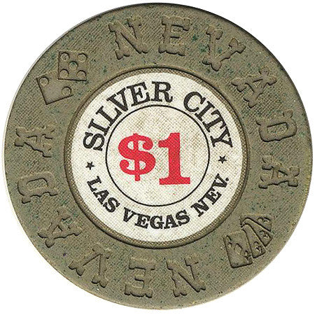 Silver City $1 (olive) chip