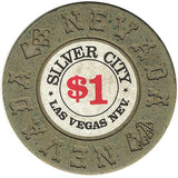 Silver City $1 (olive) chip - Spinettis Gaming - 2