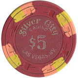 Silver City $5 (red) chip - Spinettis Gaming - 2