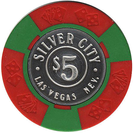 Silver City $5 (green/red) chip