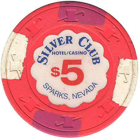 Silver Club $5 (pink) chip - Spinettis Gaming - 1