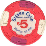 Silver Club $5 (pink) chip - Spinettis Gaming - 2