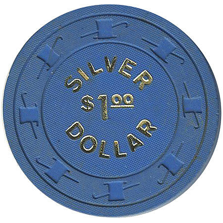 Silver Dollar $1 (blue) chip
