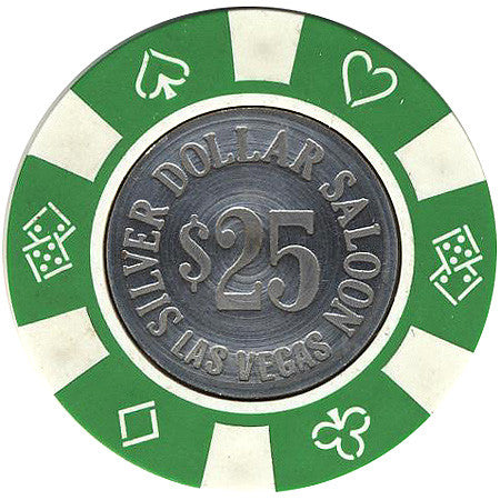 Silver Dollar Saloon $25 (green) chip