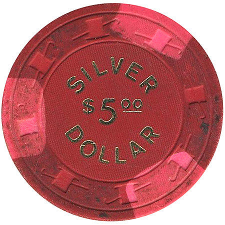 Silver Dollar $5 (red) chip