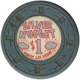 Silver Nugget $1 (gray) chip - Spinettis Gaming - 1