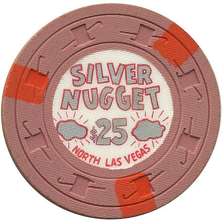 Silver Nugget $25 (salmon) chip - Spinettis Gaming - 1
