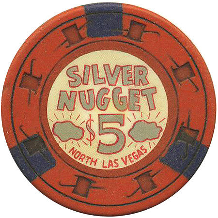 Silver Nugget $5 (orange) chip - Spinettis Gaming - 1