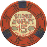 Silver Nugget $5 (orange) chip - Spinettis Gaming - 2