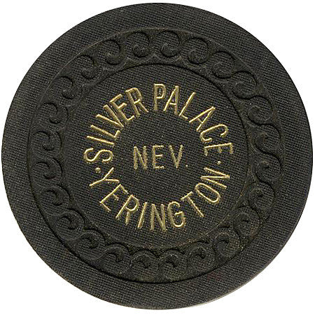 Silver Palace Yerington Roulette chip (black)
