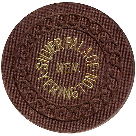 Silver Palace Yerington Roulette chip (brown)