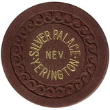 Silver Palace Yerington Roulette chip (brown) - Spinettis Gaming