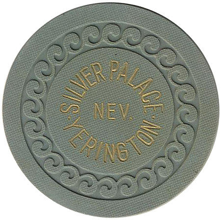 Silver Palace Yerington Roulette chip (grey) - Spinettis Gaming