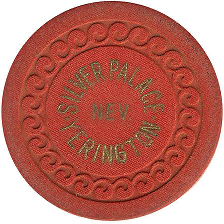 Silver Palace Yerington Roulette chip (red)