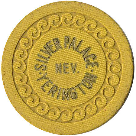 Silver Palace Yerington Roulette chip (yellow) - Spinettis Gaming