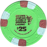 Silver Saddle $25 (green) chip - Spinettis Gaming - 1