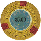 Silver Slipper $5 (yellow) chip - Spinettis Gaming - 2
