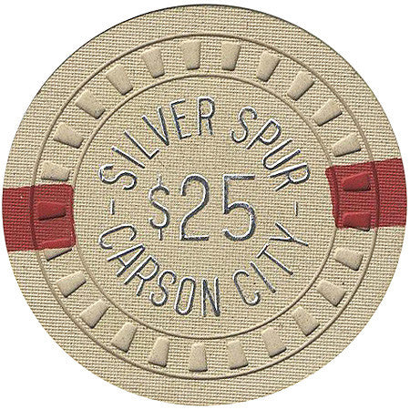Silver Spur $25 (beige) chip - Spinettis Gaming - 1