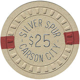 Silver Spur $25 (beige) chip - Spinettis Gaming - 2