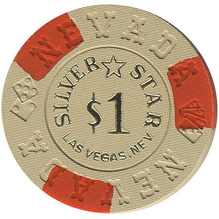 Silver Star Casino Las Vegas $1 (beige) chip Nevada Mold