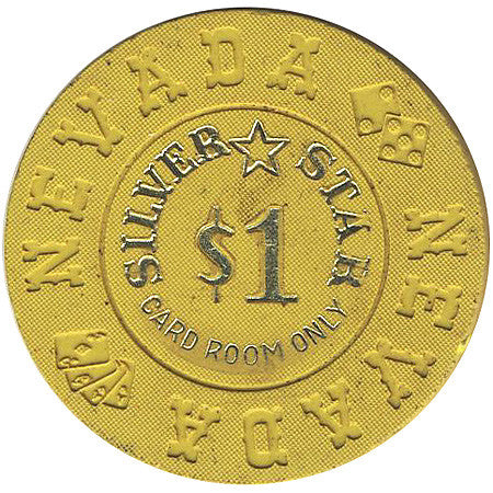 Silver Star $1 (yellow) chip - Spinettis Gaming - 1