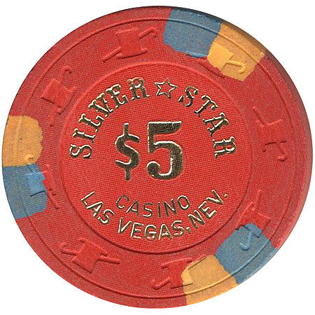 Silver Star $5 (red) chip - Spinettis Gaming