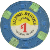 Silver Strike $1 (blue) chip - Spinettis Gaming - 2