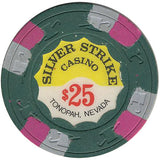 Silver Strike Casino $25 (green) chip - Spinettis Gaming - 1