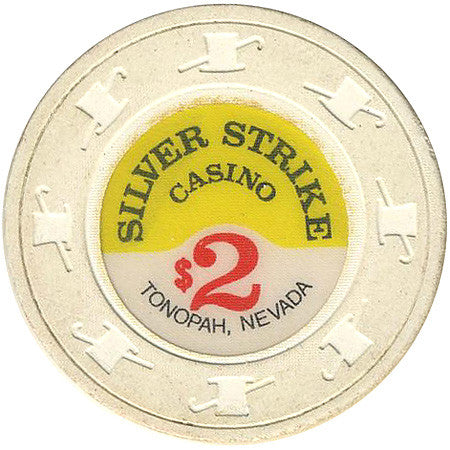 Silver Strike Casino $2 (white) chip - Spinettis Gaming - 1