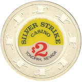Silver Strike Casino $2 (white) chip - Spinettis Gaming - 2