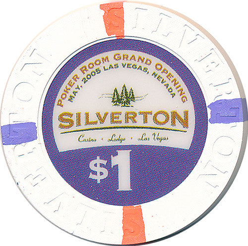 Silverton Casino Las Vegas NV $1 Poker Room Grand Opening Chip 2007