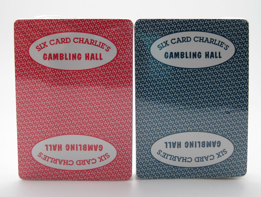 KEM Set of 2 Six Card Charlie's Casino Original KEM Cards 100% Cellulose Acetate