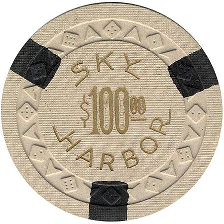 Sky Harbor (beige) $100 chip - Spinettis Gaming - 2
