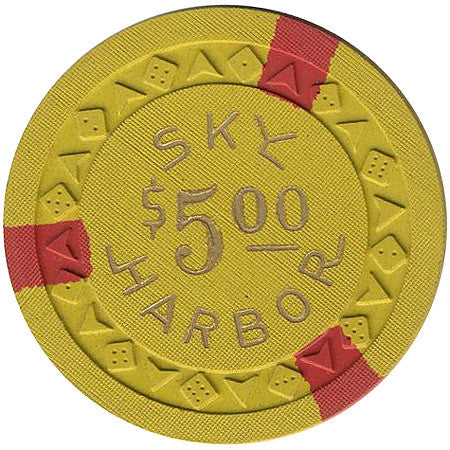 Sky Harbor $5 (yellow) chip - Spinettis Gaming - 2