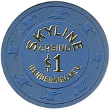 Skyline Casino $1 (blue) Hot Stamped chip - Spinettis Gaming - 2