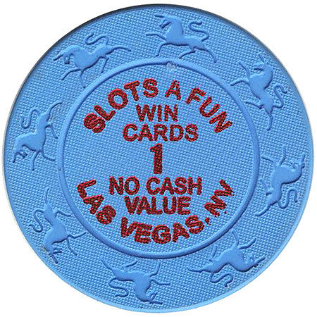 Slot A Fun Casino Las Vegas Win Cards 1 (NCV) chip - Spinettis Gaming - 1
