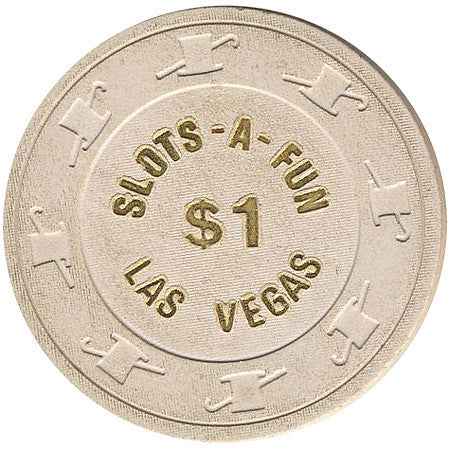Slots A Fun Casino Las Vegas $1 chip 1980s - Spinettis Gaming - 1