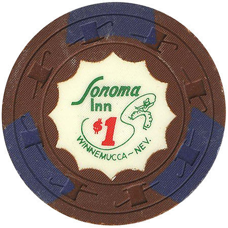 Sonoma Inn $1 (brown) chip
