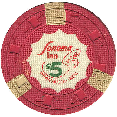 Sonoma Inn $5 (red) chip