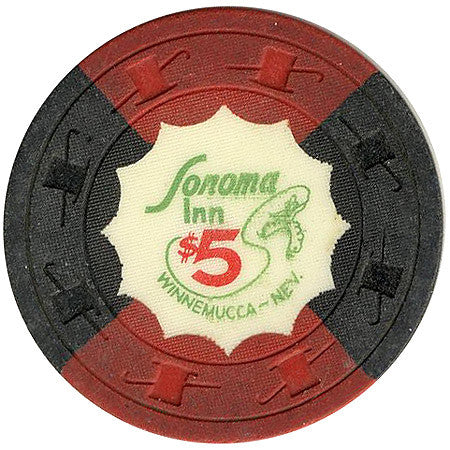 Sonoma Inn $5 (black/red) chip